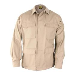 Men's Propper BDU 4-Pocket Coat Cotton Short Khaki