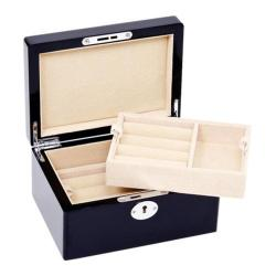 Men's Ravi Ratan 15 Pair Cufflinks Valet Case Black