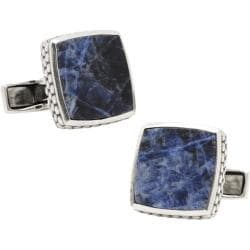 Men's Ravi Ratan Classic Scaled Cufflinks Sterling Silver/Lapis