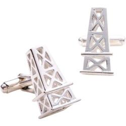 Men's Ravi Ratan Sterling Oil Derrick Cufflinks Silver