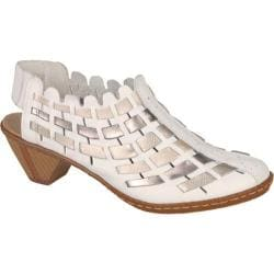 Women's Rieker Antistress Sina 78 WhiteSilverPlatinum | Shopping The Best Deals on Sandals
