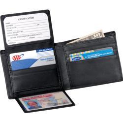 Men's Royce Leather Bi-Fold Wallet 109A-5 Black Nappa Leather