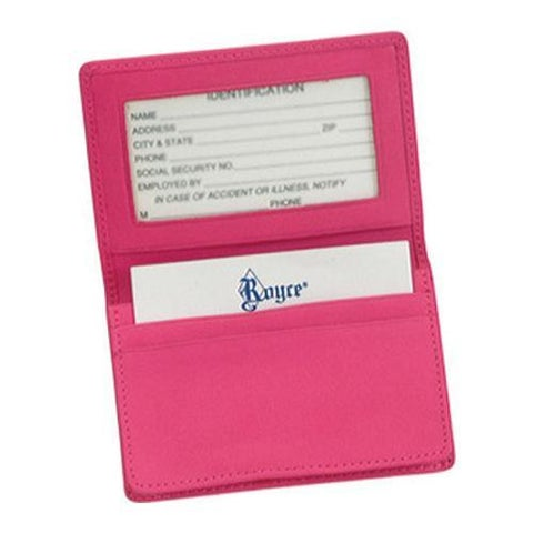 Royce Leather Deluxe Card Holder 405-5 Wildberry