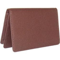 Royce Leather Business Card Holder 409-5 Burgundy Leather