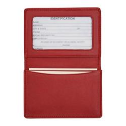 Royce Leather Business Card Holder 409-5 Red Leather