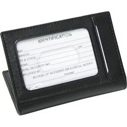 Royce Leather Card Case with Multi Windows 402-6 Black
