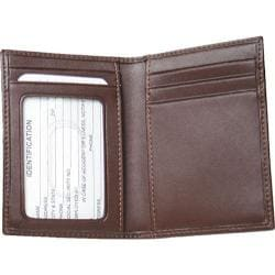 Royce Leather Card Case with Multi Windows 402-6 Coco