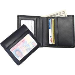 Men's Royce Leather Double ID Bi-Fold Wallet 100-6 Black Leather