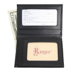 Men's Royce Leather Double ID Flip Credit Card Wallet 121-6 Black Leather