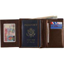 Royce Leather European Passport Wallet 207-5 Coco Leather