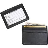 Men's Royce Leather Mini ID & Credit Card Holder 406-5 Black Leather