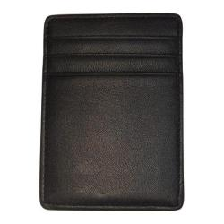 Royce Leather Nappa Prima Magnetic Money Clip Wallet 814-5 Black Leather