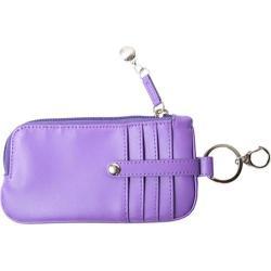 Women's Royce Leather Phone ID Credit Card Wallet 147-6 Purple