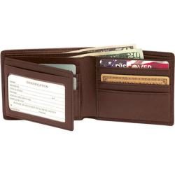 Men's Royce Leather RFID Blocking Bi-Fold with Double ID Flap 110-5 Coco
