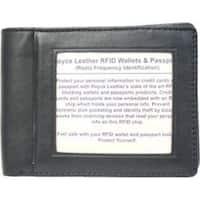 Royce Leather RFID Blocking Double ID Flat Fold Wallet 007-5 Black
