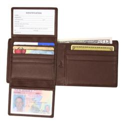 Royce Leather RFID Blocking Euro Commuter Wallet 109A-5 Coco