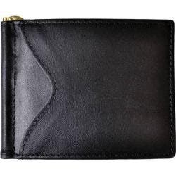 Men's Royce Leather RFID Blocking Money Clip Wallet Black