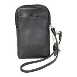 Royce Leather Smart Phone Camera Wristlet 160-5 Black