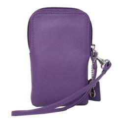 Royce Leather Smart Phone Camera Wristlet 160-5 Purple