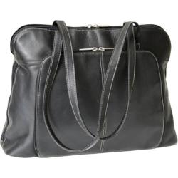Women's Royce Leather Vaquetta Nappa Tote 694 Black Leather