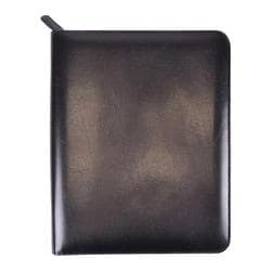 Royce Leather Zippered iPad Writing Portfolio Black