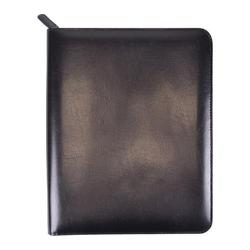 Royce Leather Zippered iPad Writing Portfolio Black