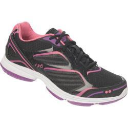 Women's Ryka Devotion Plus Black/Cool Mist Grey/Bright Violet/Hot Pink