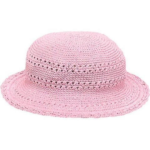 Girls' San Diego Hat Company Cotton Crochet Hat CHL9 Pink