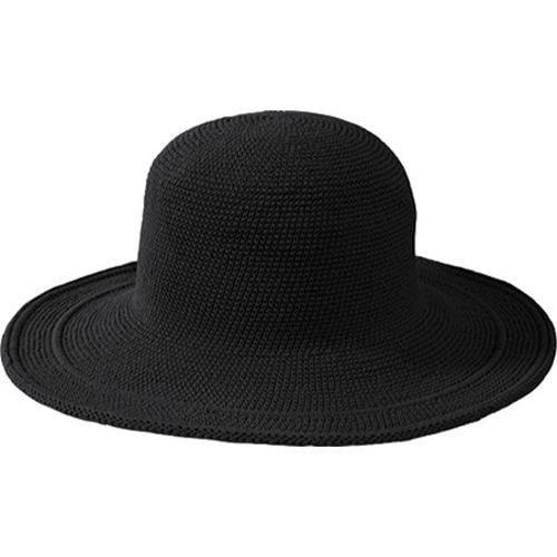 33e21e7c Women's San Diego Hat Company Cotton Crochet Hat Large Brim CHL5 Black