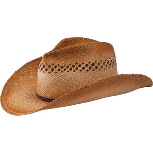 8ec06a20a51700 Shop Women's San Diego Hat Company Cowboy Hat w/ Leather Trim RHC1070 Tea - Free  Shipping On Orders Over $45 - Overstock - 9715137