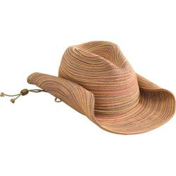 Women's San Diego Hat Company Mixed Braid Cowboy Hat MXC4005 Rust