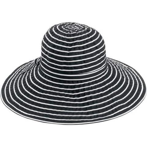 902b25bd02399 Women s San Diego Hat Company Ribbon Braid Large Brim Hat RBL207 Black White