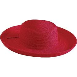 Women's San Diego Hat Company Paperbraid Large Brim Hat PBL1 Red