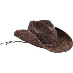 Women's San Diego Hat Company Raffia Cowboy Hat RHC1052 Brown