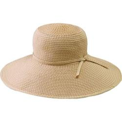 Women's San Diego Hat Company Ribbon Braid Hat w/ Ticking RBL205 Beige