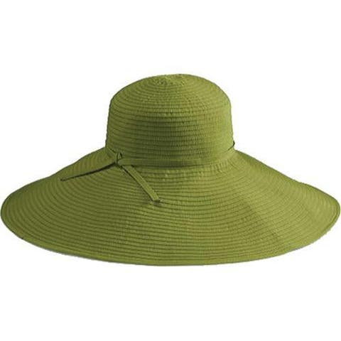 7cdb4b8253a90 Women s San Diego Hat Company Ribbon Braid Xl Brim Hat RBXl202 Avocado