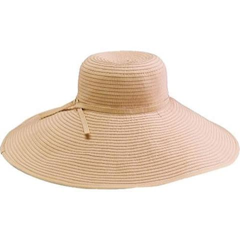a8574c2d31d724 Women's San Diego Hat Company Ribbon Braid Xl Brim Hat RBXl202 Beige
