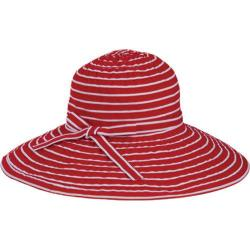 Women's San Diego Hat Company Ribbon Braid Large Brim Hat RBL207 Red /White