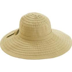 Women's San Diego Hat Company Ribbon Large Brim Hat w/ Bow RBL299 Beige