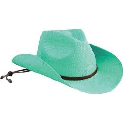 Women's San Diego Hat Company Soft Toyo Cowboy Hat STCL Turquoise