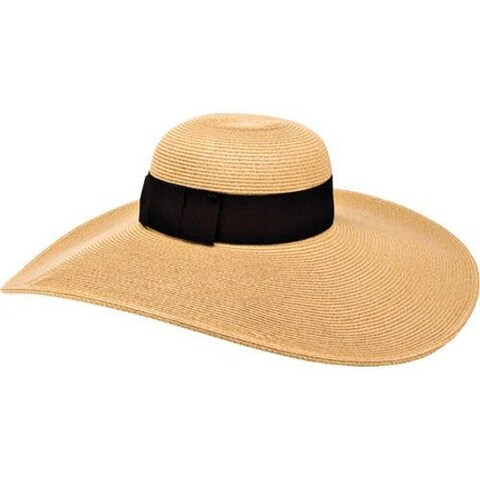 Women's San Diego Hat Company Ultrabraid Hat w/ Ribbon UBLX106 Camel
