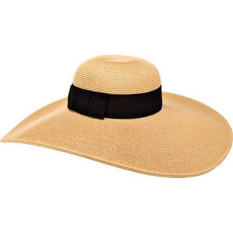 Women's San Diego Hat Company Ultrabraid Hat w/ Ribbon UBLX106 Camel