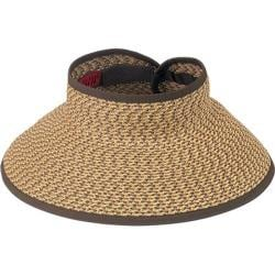 Women's San Diego Hat Company Ultrabraid Large Brim Visor UBV022 Brown