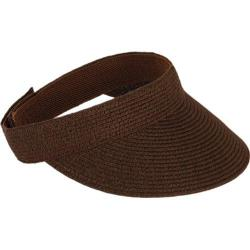 Women's San Diego Hat Company Ultrabraid Small Brim Visor UBV003 Chocolate