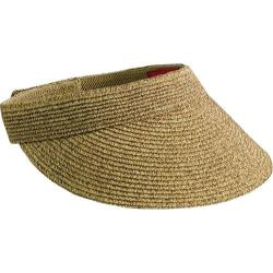 Women's San Diego Hat Company Ultrabraid Small Brim Visor UBV003 Coffee