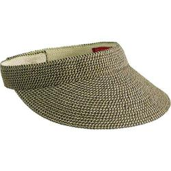 Women's San Diego Hat Company Ultrabraid Small Brim Visor UBV003 Mixed Brown