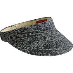 Women's San Diego Hat Company Ultrabraid Small Brim Visor UBV003 Mixed Navy