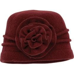 Women's San Diego Hat Company Wool Flower Cap WFH7898 Wine
