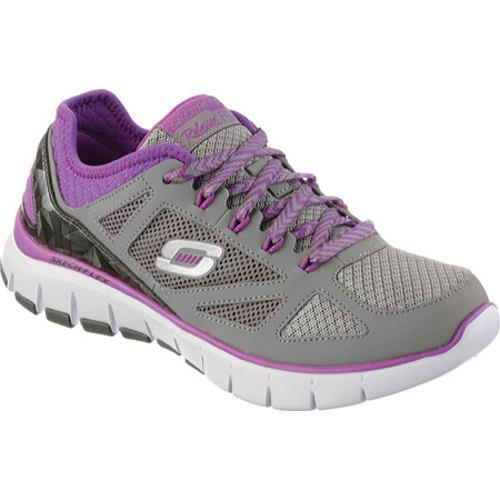 2ab5f0ac2bca Shop Women s Skechers Relaxed Fit Skech Flex Royal Forward Gray Purple -  Free Shipping Today - Overstock - 9716210