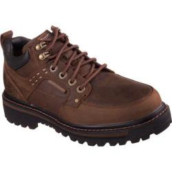 Skechers Men's Boots Relaxed Fit Mariners Vitor Dark Brown